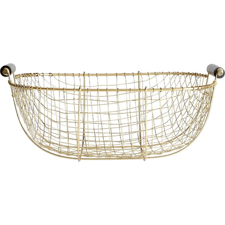 Relatively Bounty Gold Iron Wire Baskets IH31