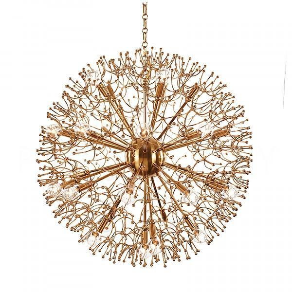 Top Organic Large Brass Globe Chandelier ZP86