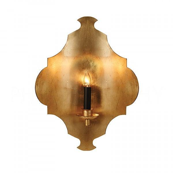 Beals Geometric Gold Leaf Wall Sconce