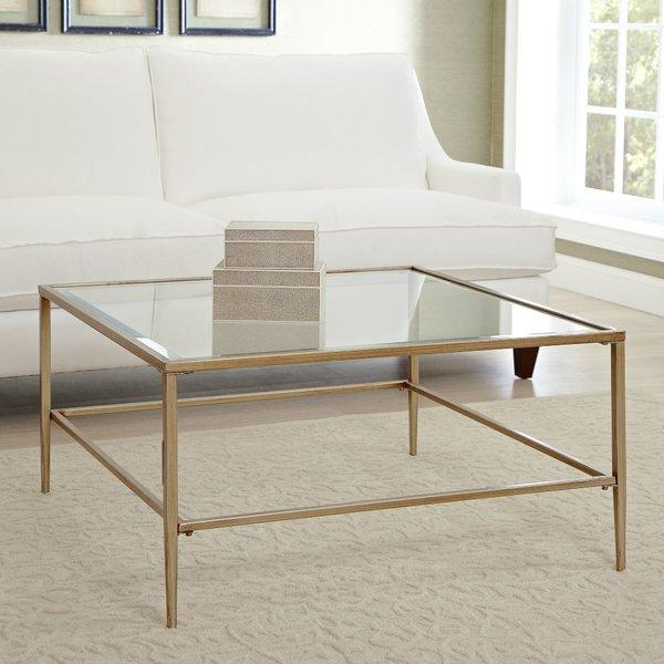 Lucia Gold Glass Coffee Table