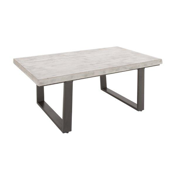 Sunpan devons rustic concrete grey and brown round coffee for White coffee table with black legs