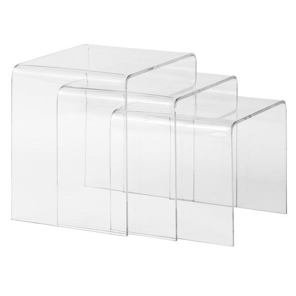Burton 3 Piece Acrylic Nesting Tables