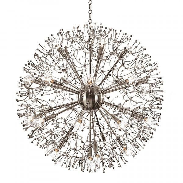 Large organic nickel branches globe chandelier mozeypictures Images