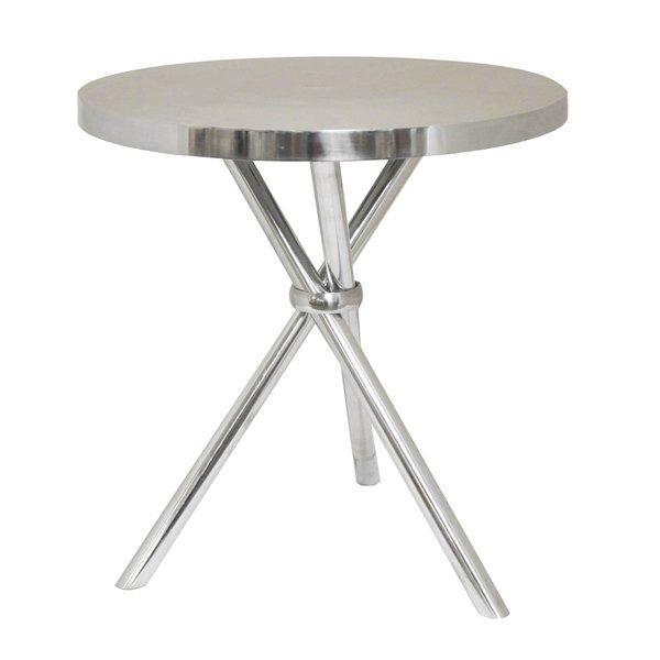 Mikayla Round Aluminum Tripod End Table