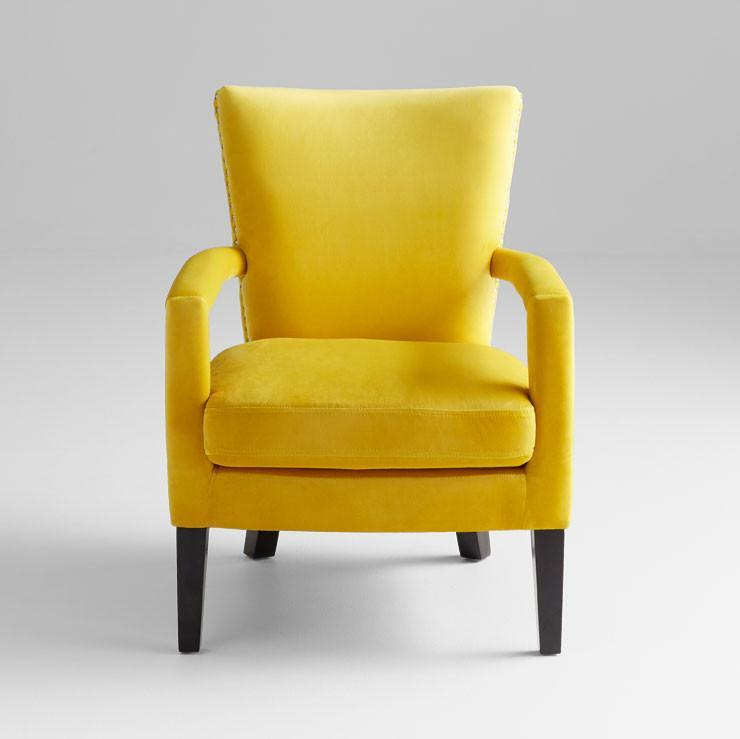 Mustard Yellow Velvet Side Chair