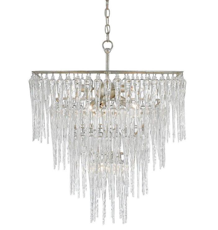 Crystal tiered chandelier icecap crystal tiered chandelier aloadofball Image collections