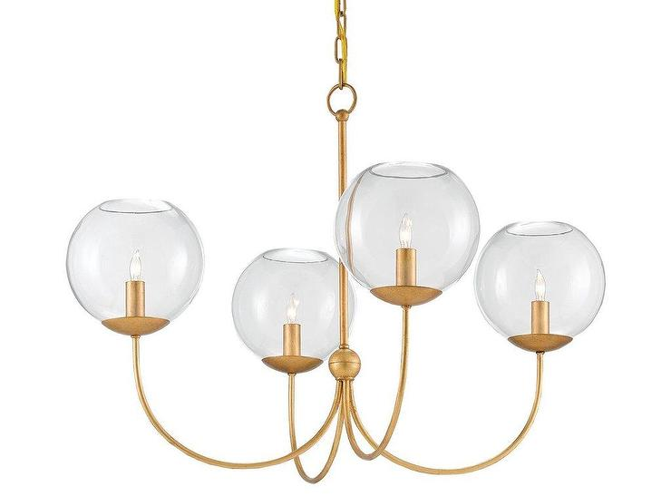 Rothwell Brushed Brass 4 Light Globe Chandelier