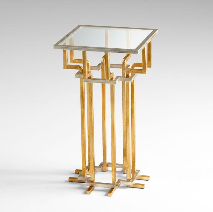 Slater Square Brass Side Table