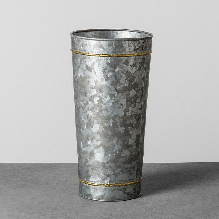 Hearth And Hand Flower Frogger Galvanized Vase