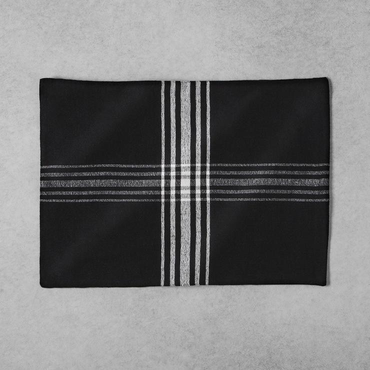 Threshold Black Flannel Sheet Set