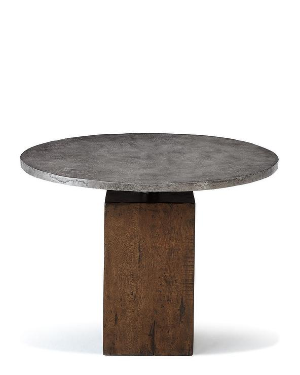 Fuze Gray Cement Bistro Table