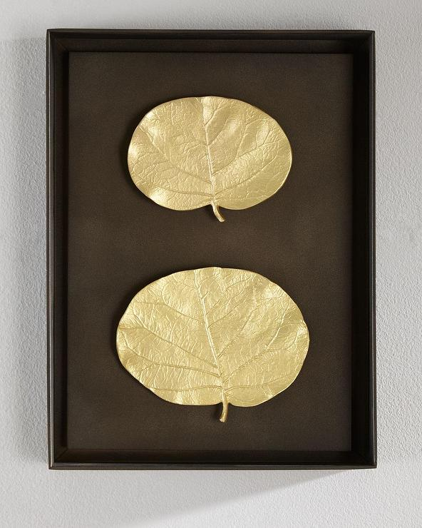 Aram Brass Botanical Leaf Wall Art