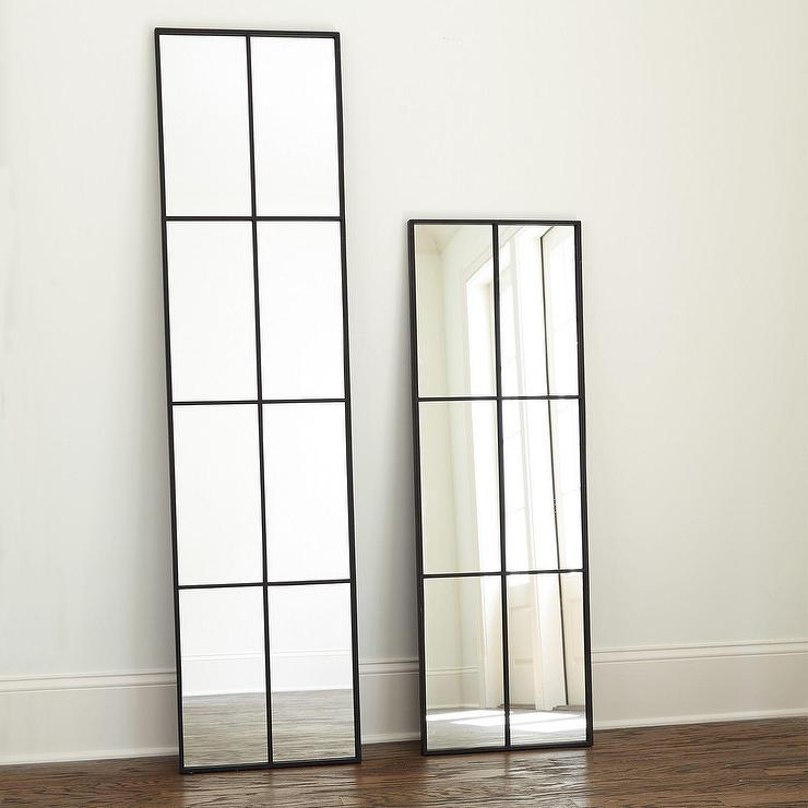 Loft Matte Black Iron Frame Mirror