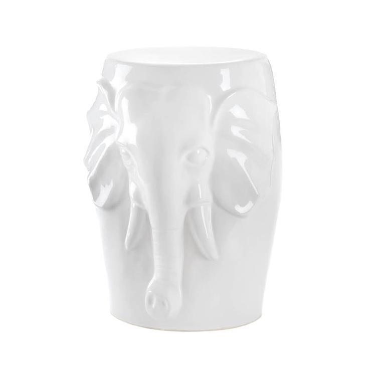 White Ceramic Parrot Sculpture