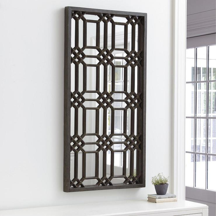 Elling Geometric Pattern Iron Frame Mirror