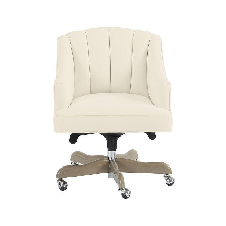 Holly White Channel Tufted Desk Chair Ballarddesigns Com