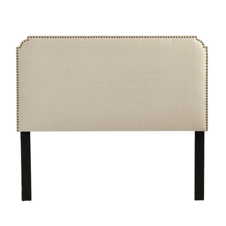 Colors For Your Bedroom Bedroom Table Storage Bedroom Sets Louis Vuitton Bedroom Wallpaper: Chandler Neutral Upholstered Nailhead Trim Headboard