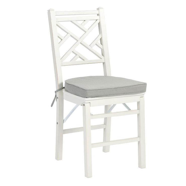 Pronto White Folding Bistro Chair Crate And Barrel