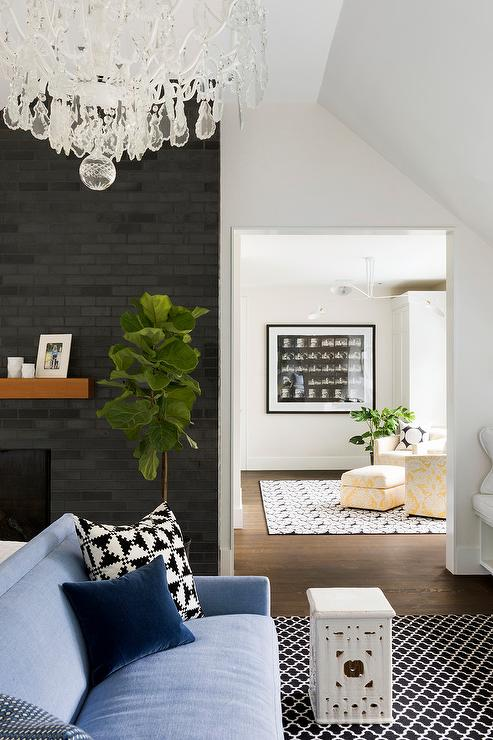 Black Brick Fireplace Surround Design Ideas