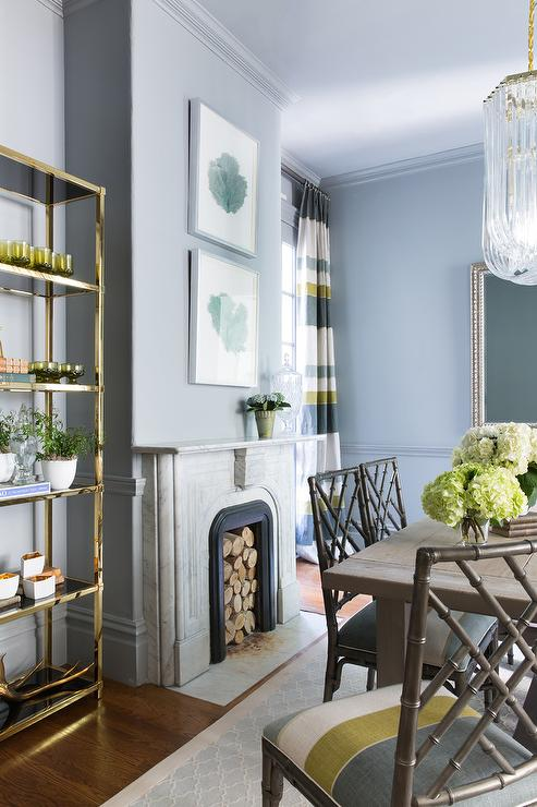 Yellow and Blue Dining Room Colors Transitional Dining Room