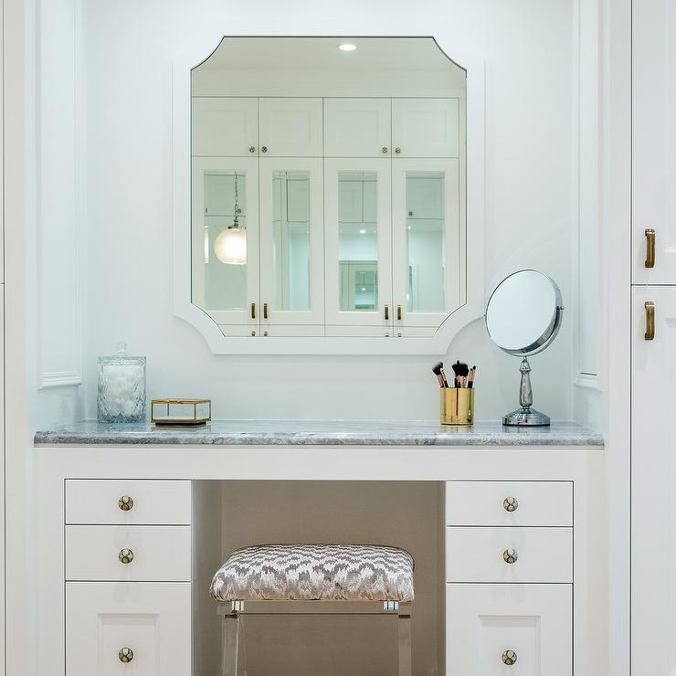 Cool Gray Chevron Makeup Vanity Stool Transitional Bathroom Ibusinesslaw Wood Chair Design Ideas Ibusinesslaworg