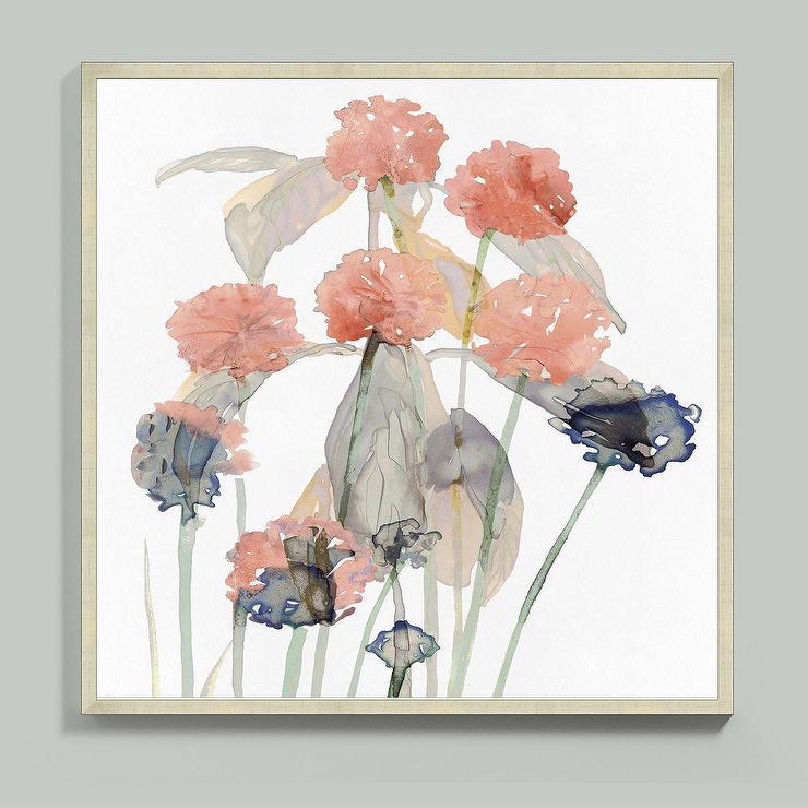 Black Flower Watercolor Art By Tae Lee: Floral Watercolor + Birch Wall Art