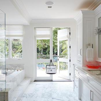 Merveilleux Master Bath Glass French Doors To Balcony