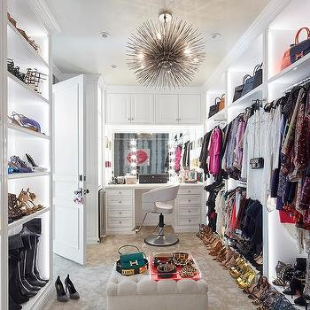 Walk In Closet Dressing Table Design Ideas