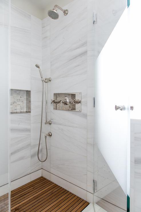 teak slatted shower floor