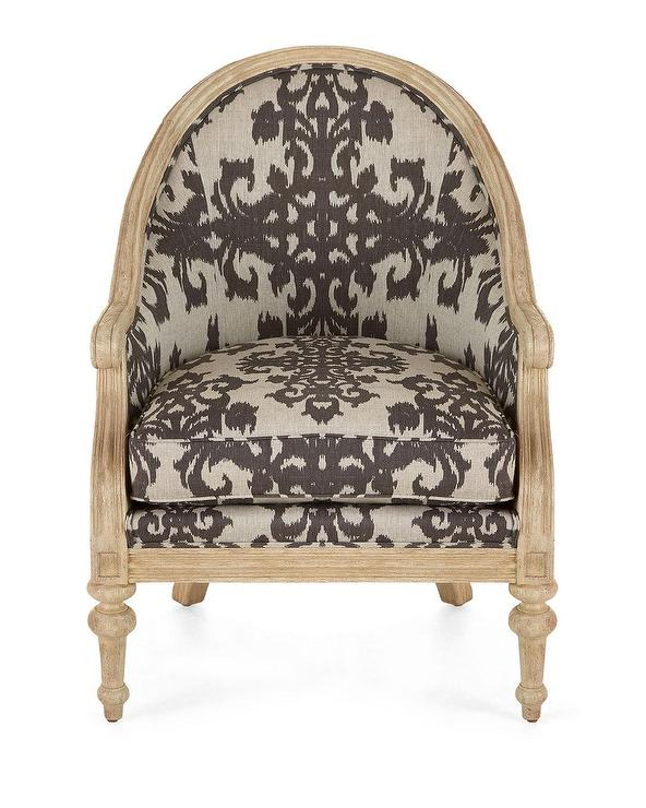 Lounge Tight Back Accent Beige Chair With Panels