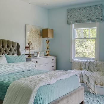 Soft Blue Girl Bedroom Wall Design Ideas