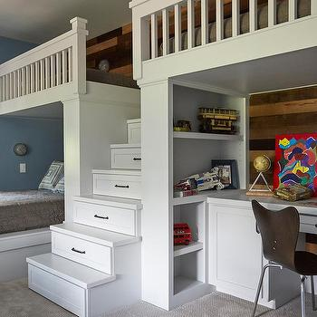 Boys Bedroom Modular Bookcase Design Ideas