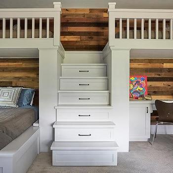 Kids Bedroom Plank Backsplash Design Ideas