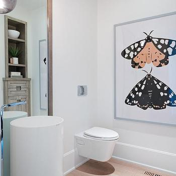 0c2d93db097 Large Butterfly Powder Room Art Design Ideas