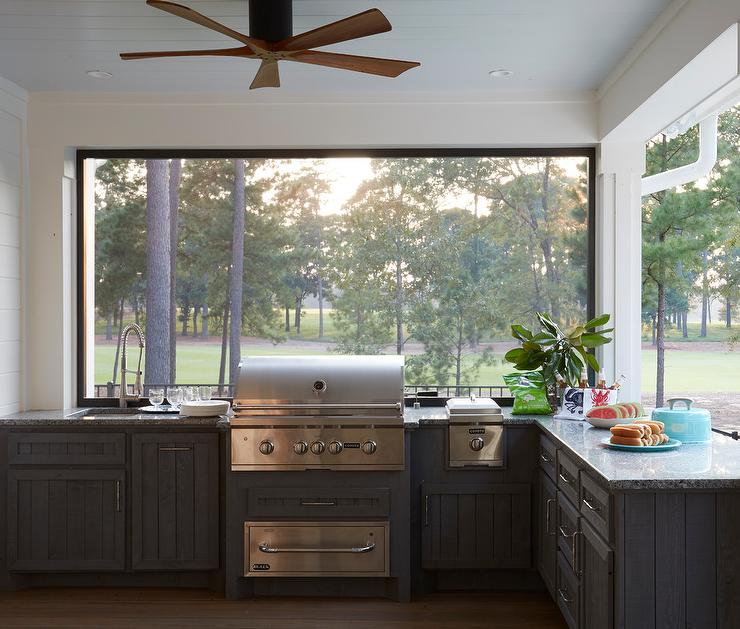 100 Outdoor Kitchen Design Ideas Photos Features: Shiplap Kitchen Cabinets Design Ideas