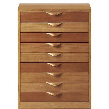 Woods Oak Veneer 5 Drawer Filing Cabinet