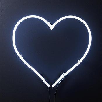 Vintage Illuminated Oversized Framed White Heart