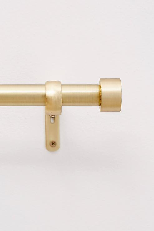Cappa Burnished Brass Curtain Rod