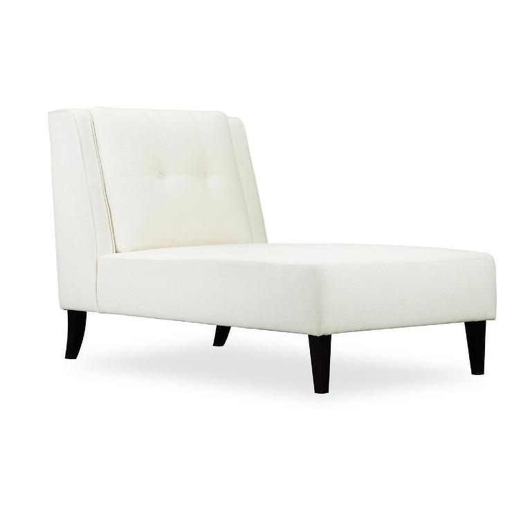 Logan Bone White Linen Fabric Chaise Lounge