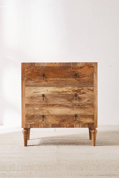 Wood Tiled 3 Drawer Dresser West Elm