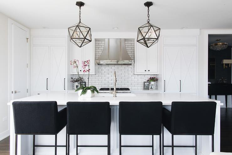 Fantastic Black Upholstered Counter Stools At White Island Gamerscity Chair Design For Home Gamerscityorg