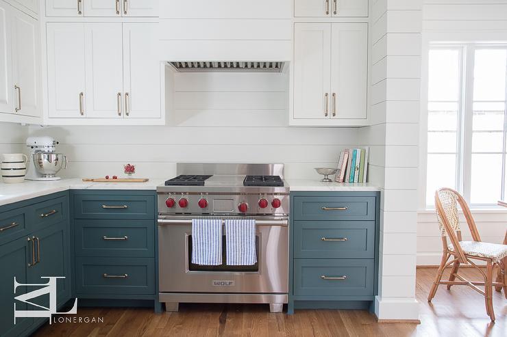 Two Toned Shiplap Kitchen Backsplash