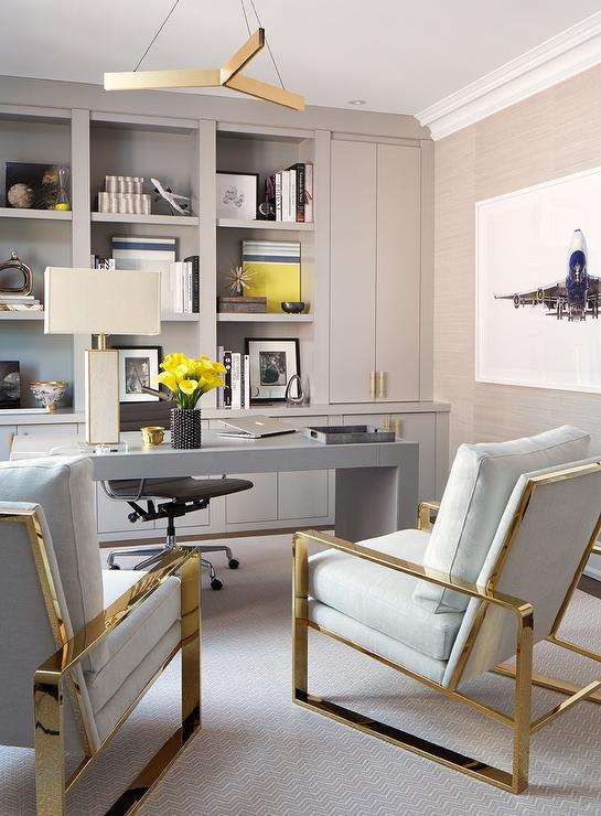 Gold And Gray Home Office Colors
