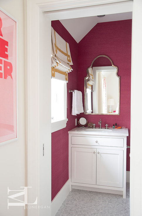 Neon Pink Wall Paint Contemporary Bathroom Benjamin