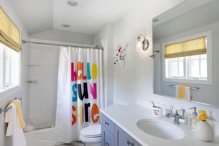 Merveilleux Hello Sunshine Shower Curtain In Girls Bathroom