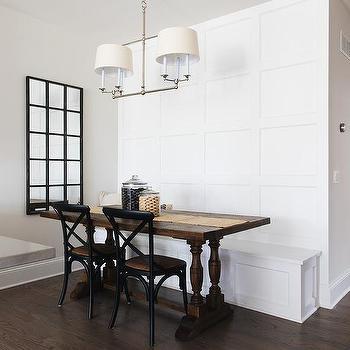 Light Wood Balustrade Dining Table Design Ideas