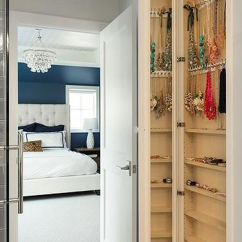 Long Wall Mirror With Hidden Jewelry Cabinet