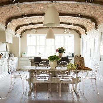 Whitewashed Wood Ceiling Beams Design Ideas