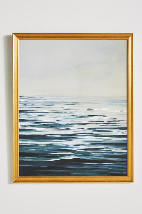 Calm Water Gold Framed Wall Art