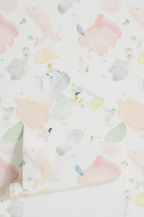 Watercolors Pastel Drips Wallpaper